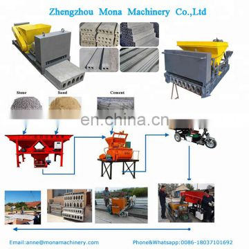Precast concrete hollow core slab machine, prestressed cement slab molding machine