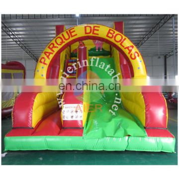 2017 newest inflatable slide/animals inflatable dry slide/cheap inflatble sliede for rental