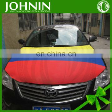 cheap spandex screen printing custom design promotional car hood flag