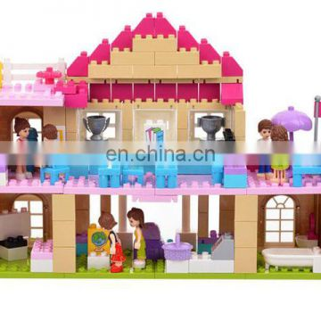 Newest puzzle hourse building blocks for boys and girls