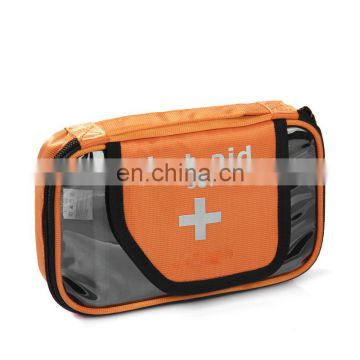 orange cosmetic emergency first aid kit soft mini medical bag