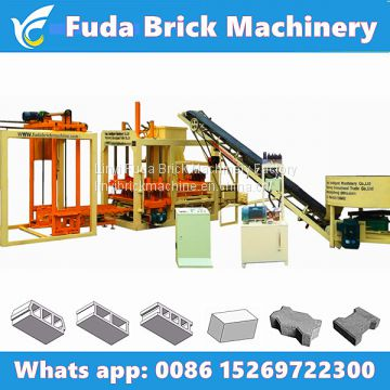 QT4-18 hydraulic automatic block making machine, concrete brick production line price for sale in India