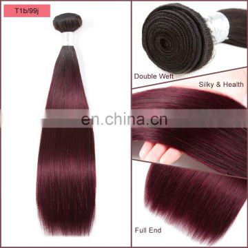 Good quality ombre hair extensions two tone 1b/99j beauty color silky straight no shedding no tangle