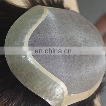 Factory wholesale human hair toupee top quality male wig