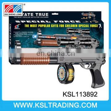 High quality plastic infrared electric gun with light,music and shake