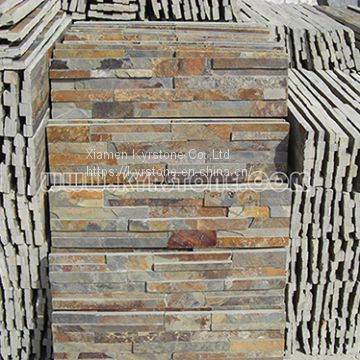 KYRSTONE Natural Rusty Slate Culture Stone For Interior U0026 Outside Wall  Panels Roofing