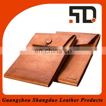 Manufacture High Quality Organizer Cheap Leather Cover File certificate Holder
