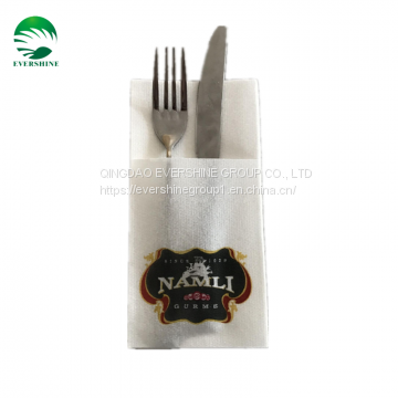 Luxury Cutlery pockets Natural flax Knife and Fork Bag