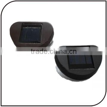 Plastic 2 led garden solar fence light sun wall lamp waterproof automatic led solar motion sensor light