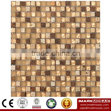 IMARK Marble Mosaic Tiles with Painting Mosaic Tiles and Resin Mosaic Tiles Code IXGM8-055