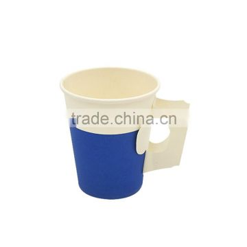 7.5oz/9oz disposable handle paper cup for hot coffee