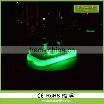 Multi-collor LED tray ice bucket for fruit or beer with CE and ROHS