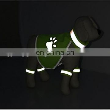 Dog Safety Vest Protects with Adjustable Strap Fluorescent Reflectors