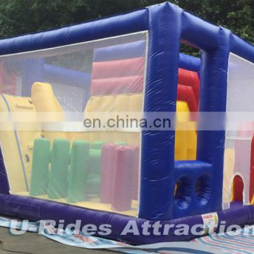obstacle bouncer with net mini jumper for kids