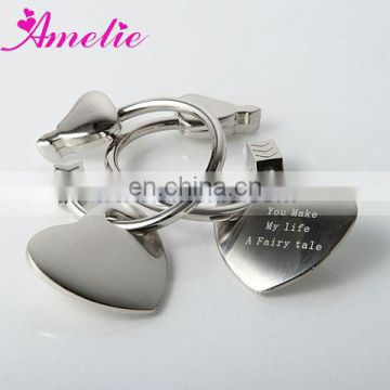 AK011 love heart design keychain wedding thank you gifts for guests