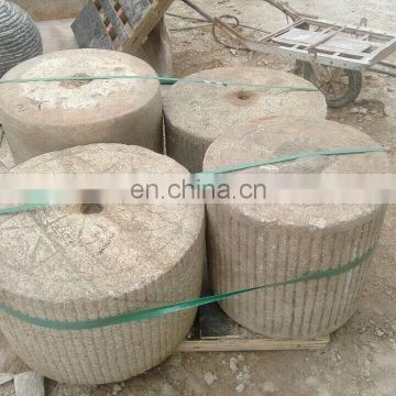unique special ancient grinding wheel architecture stone landscaping