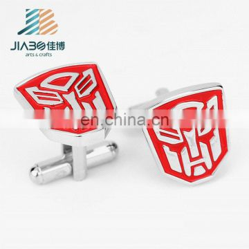 Jiabo custom fashion engraved logo metal cufflinks for men