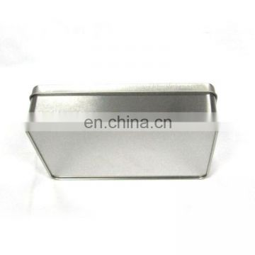 Plain rectangular gift tin box with window