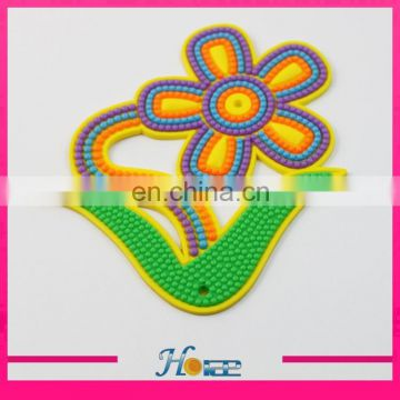 wholesale cheap 3D PVC rubber patch lady sandal rubber accessories