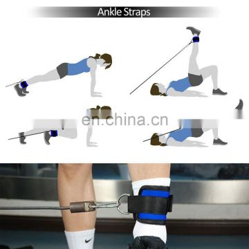 Ankle Straps for Cable Machines and Resistance Bands for Men and Women- Neoprene Padded Ankle Cuffs for Weight Lifting Leg Gym