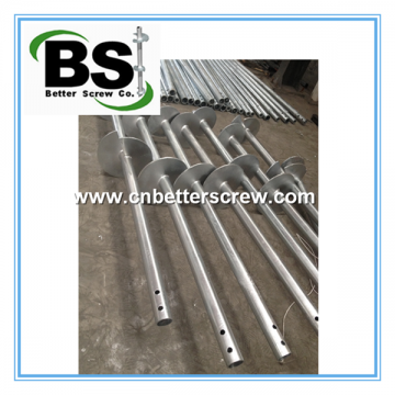 Round Shaft Helical Piles are use to Solar Farms Foundation