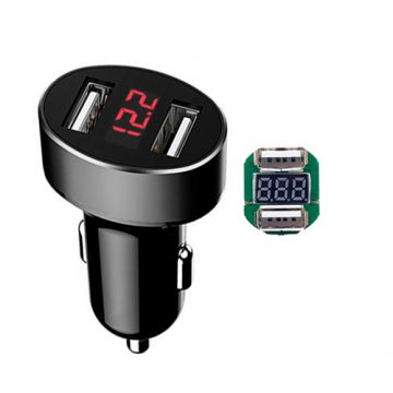 Tiensun PCBA Dual Port Car Charger with Monitor