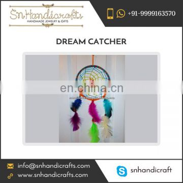 Highly Appreciated Dream Catcher Available with Vibrant Coloured Feather