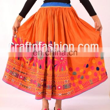 Vintage Gypsy Rabari Banjara Skirt(Gaghra)- Vintage Banjara Belly Dance Skirt- Indian Vintage Banjara hobo kutchi skirts
