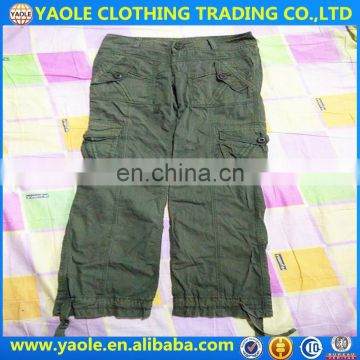 wholesale used clothes and shoes and bags used clothing bale usa cargo pants