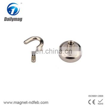 Neodymium External Screw Thread Round Base Pot Magnet