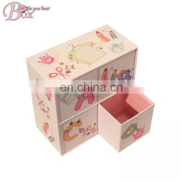 Four Drawers Printing Student Stationery Storage Box