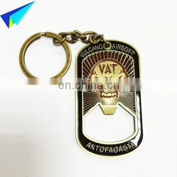 Custom zinc alloy keychain sublimation blank keychain hot selling metal keychain for heat transfer