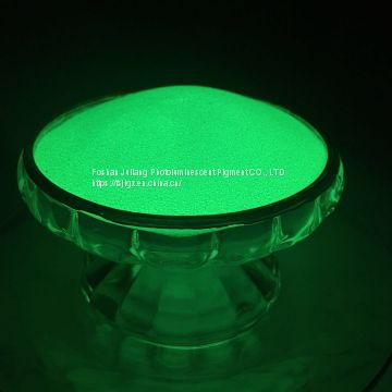 Long effect yellow green glow in the dark powder JPG-386 for injection molding / Non-toxic