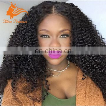 Grade 7A Full Lace Human Hair Wig Free Middle Part With Baby Hair Virgin Brazilian Hair Afro Kinky Culry Full Lace Wig