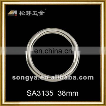 Song A Metal slide buckle Heavy metal Best Quality PVD nickle freel plating O ring circle round