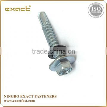 China supplier m10 carbon steel hex flange self drilling screw