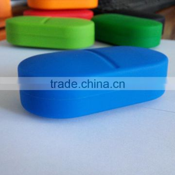 New fashion Eco-friendly silicone medical six-compartment pill cases/Medical storage silicone pill cases