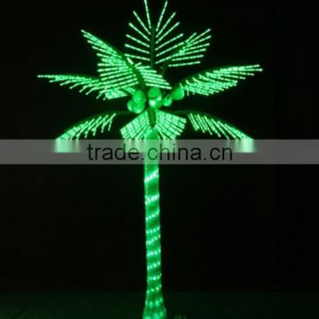 Home garden decorative 200cm Height outdoor artificial green flashing LED solar lighted up coconut palm trees EDS06 1401