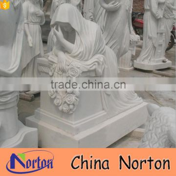 Cheap marble unique cemetery headstones with angel wings NTGT-442A