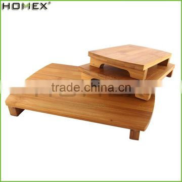 Wholesale Cheap Price Serving Food Wooden Burnished Bamboo Sushi Plate For Sale/Homex_Factory