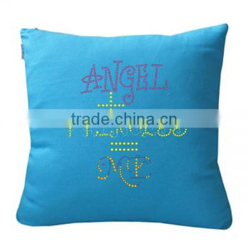 Bling Letter Rhinestone Heat On Transfer Pillow For Home Decoration