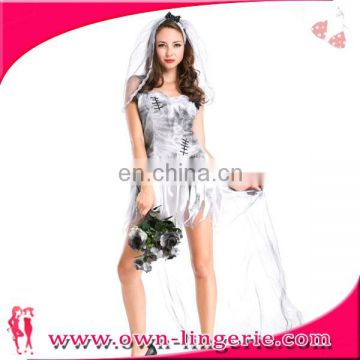 Hot selling sexy white underwear bride wedding outfit costume Bride Costume