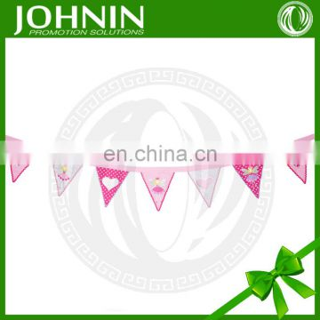 cheap DIY decoration polyester printed bunting kit for birthday party