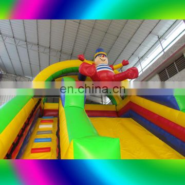 2017 inflatable hot sale bouncer with slide, inflatable combo kids slide