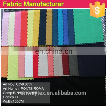 CC-0035 2014 New Styles cotton and spandex CTN/SP 95/5 Ponte Roma knitted Fabric for garments