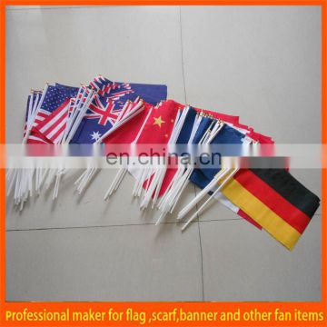 football fans advertising 2016 national hand held flags