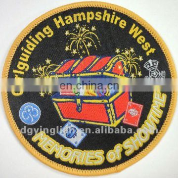 Customized labels Embroidered badge custom garment brad labels the woven badges