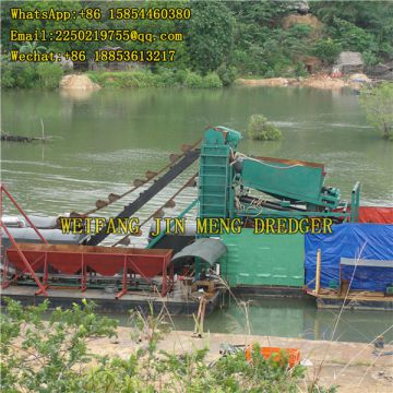 Gold Selection Bucket Chain Gold Dredger Gold Mining Dredge Transportable