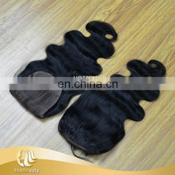 Free Parting 3 Way Part Closure Middle Part Swiss Lace Natural Black