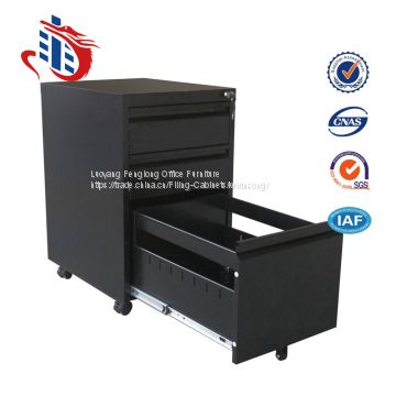 Multi-functional movable mobile pedestal 3 drawer metal file cabinets